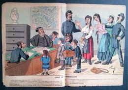 Caricature CHEZ LE COMMISSAIRE Par LAVRATE. - Autres