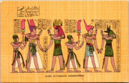 Egypt Scene Of Pharaoh Amenkepeshef 1960 - Pyramids
