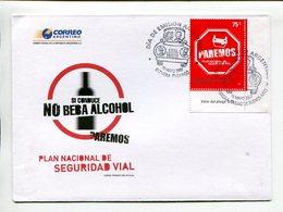 SI CONDUCE, NO BEBA ALCOHOL, PAREMOS. IF DRIVING, DO NOT DRINK. ARGENTINA 2007, SOBRE PRIMER DIA, ENVELOPE FDC -LILHU - Vinos Y Alcoholes