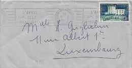 995   VILLANDRY   SEUL  SUR  LETTRE  POUR  LE  LUXEMBOURG  . - Marcophilie (Lettres)