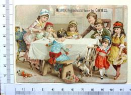 CHROMO  ..MELROSE ....REGENERATEUR DE CHEVEUX....LE GOÛTER DE ENFANTS...POUPÉE...CHIEN - Trade Cards
