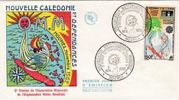 FDC PREMIER JOUR 306 Organisation Météorologique Mondiale 05-11-1962 Nouvelle-Calédonie - FDC