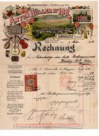 1906 GERMANY, GRASLITZ TO VRSAC, HUNGARY, SERBIA, INVOICE FOR SAKSOFON, COMPANY'S LETTERHEAD, 1 REVENUE STAMP , - Germany