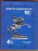 Turkey 2019, Extraordinary Bloc, Centenary Of The National Struggle From Mustafa Kemal Atatürk, MNH - Nuevos