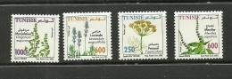 2005-Tunisia-Medicinal Plants- Complete Set 4 V.MNH** - Tunisia