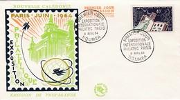 FDC PREMIER JOUR 325 Philatec 09-04-1964 Nouvelle-Calédonie - FDC