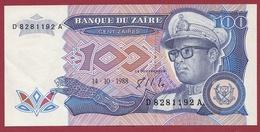 Zaïre 100 Zaïres Du 14/06/1988  --UNC (NEUF) - Zaire