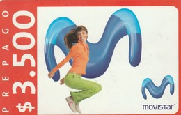 TARJETA TELEFONICA DE CHILE (PREPAGO) Recarga Movistar - Girl. 07-10-08. CL-MOV-REF-0001-09D. (303) - Chili
