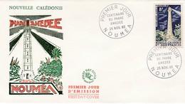 FDC PREMIER JOUR 327  Phare Amédée 25-11-1965 Nouvelle-Calédonie - FDC