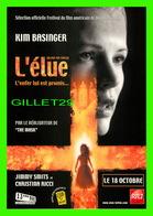 """AFFICHE DE FILM - """" L'ÉLUE """" - DE CHUCK RUSSELL SORTI EN 2000 - KIM BASINGER, JIMMY SMITS, CHRISTINA RICCI - - Affiches Sur Carte"""