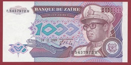 Zaïre -1000 Zaïres Du 24/11/1989 --UNC (NEUF) - Zaire