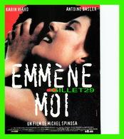 """AFFICHE DE FILM - """" EMMÈNE MOI """" - DE MICHEL SPINOSA EN 1994, AVEC KARIN VIARD ET ANTOINE BASLER - Affiches Sur Carte"""