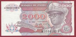 Zaïre -2000 Zaïres Du 01/10/1991 --UNC (NEUF) - Zaire