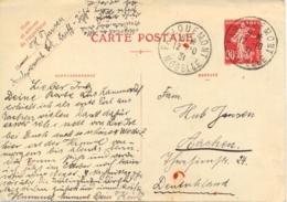 France 1931 Postal Stationery Postcard 90 C. Semeuse To Germany Carte Postale - Francia