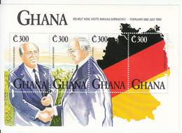 1992 Ghana  Germany Reunification Flags  Complete Set Of 3 Sheets MNH - Ghana (1957-...)