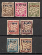 Inde - 1923 - Taxe TT N°Yv. 1 à 7 - Série Complète - Neuf Luxe ** / MNH / Postfrisch - Inde (1892-1954)