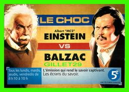 """SÉRIE TV - """" LE CHOC. """" ALBERT """"MC2 """" EINSTEIN VS BALZAC SUR LA 5e - - Affiches Sur Carte"""