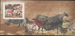 FRANCE, 2019, MNH, CAVE ART, PREHISTORIC ART, DORDOGNE, HORSES, BOVINES, SPECIAL SHEETLET - Art