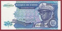 Zaïre -200000 Zaïres Du 01/03/1992 --UNC (NEUF) - Zaïre