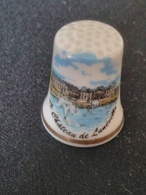 Dé à Coudre De Collection En Porcelaine - LE CHATEAU DE LUNEVILLE - Dés à Coudre