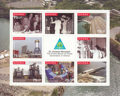 2010 Ghana  Energy Power Generation Engineering  Souvenir Sheet MNH  *RARE* - Ghana (1957-...)