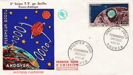 FDC PREMIER JOUR PA73 Télécommunications Spatiales 04-12-1962  Nouvelle-Calédonie - FDC