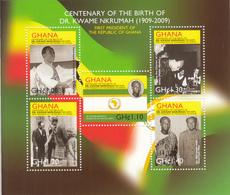 2009 Ghana  President Nkrumah Mao Zedong   Souvenir Sheet MNH  *RARE* - Ghana (1957-...)