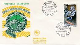FDC PREMIER JOUR PA79 3eme Journée Météorologique Mondiale 23-03-1969  Nouvelle-Calédonie - FDC