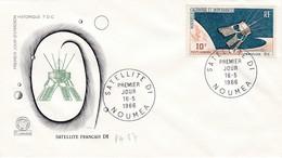 FDC PREMIER JOUR PA87 Satellite D1 16-05-1966 Nouvelle-Calédonie - FDC