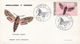 FDC PREMIER JOUR PA93 Papillon 26-03-1968 Nouvelle-Calédonie - FDC