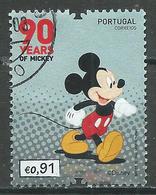 Portugal 2018 90 Ans De Mickey Oblitéré ° - 1910-... Republic