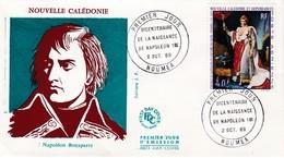 FDC PREMIER JOUR PA108 Napoléon 1er 02-10-1969 Nouvelle-Calédonie - FDC