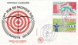 FDC PREMIER JOUR PA122 123 IVemes Jeux Pacifique Sud 24-06-1971 Nouvelle-Calédonie - FDC