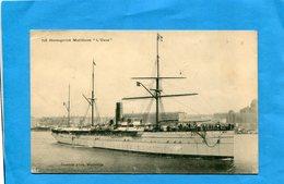 """Paquebot """"l'OXUS"""" Gros Plan  Quittant Marseille édition Guende - A Voyagé En1907 - Paquebots"""