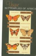 2012 Ghana  Butterflies Papillons Complete Set Of 2 Sheets MNH - Ghana (1957-...)