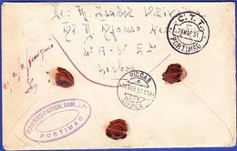 Cover - Lisbon To Portimão / Postmark - PORTIMÃO + PICOAS, 1951 - 1910 - ... Repubblica