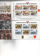 """JERSEY. 1995.CARNET NEUF .""""50e ANNIVERSAIRE DE LA LIBERATION"""".1945.Thèmes """"CROIX-ROUGE"""". MILITAIRE... - Croix-Rouge"""