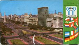 XI COPA MUNDIAL DE FUTBOL 1978, BUENOS AIRES, AVENIDA 9 DE JULIO. ARGENTINA TARJETA POSTAL CIRCULADO 1978 -LILHU - Argentine