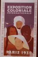 Photo Diapo Diapositive Slide FRANCE Entre 2 Guerres N°4 Affiche De L'Exposition Coloniale Paris En 1931 VOIR ZOOM - Diapositives (slides)