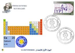 DZ Algeria 1836 - 2019 International Year Of The Periodic Table Chemical Elements Dmitry Mendeleev Chemistry Calcium - Chemistry