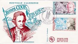 FDC PREMIER JOUR PA154 157 Cook Entrecasteaux 04-09-1974 Nouvelle-Calédonie - FDC