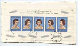 New Zealand 1985 Piece Scott 620 Queen Elizabeth II S/S, Glen Eden Postmarks - New Zealand