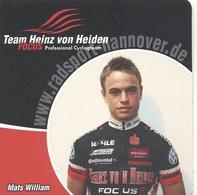 Cyclisme, Mats William, Sous-boc De L'équipe - Cyclisme