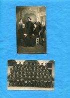 Chasseurs Alpins-2 Cartes Photos-1 Phot D'art-2me-phot Groupe Du 24ème B C A  1926--**plis - Uniforms