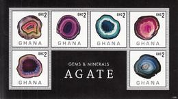 2013 Ghana  Agate Minerals Miniature Sheet MNH - Ghana (1957-...)