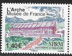 ST. PIERRE ET MIQUELON, SPM, 2019, MNH, MUSEUMS, MUSEUM OF FRANCE,  1v - Museums