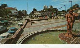 VILLA GESELL - PLAZA PRIMERA JUNTA. ARGENTINA TARJETA POSTAL CIRCULADO 1980 -LILHU - Argentina
