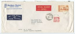 Canada 1968 Airmail Special Delivery Cover Montreal To Detroit MI, Scott 457 & 465A - 1952-.... Reign Of Elizabeth II