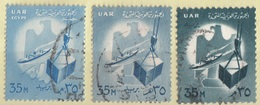 Egitto 1958-1960-1961 Sc. 444-483-535  Commerce Eagle Ship Cargo Egypt Egypte Used Aquila - Egittologia