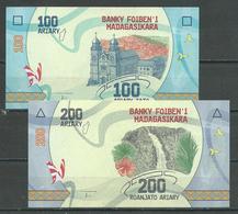 Madagascar Nouveaux Billets De 100 Et 200 Ariary Neuf ** - Madagaskar